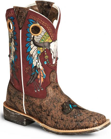 Ariat Rodeobaby Roundup Cowgirl Boot - Wide Square Toe