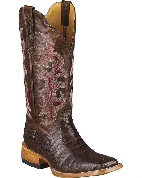 Ariat Tobacco Caiman Latigo Cowgirl Boots - Wide Square Toe