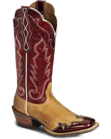 Ariat Caballera Wingtip Cowgirl Boot - Wide Sq Toe