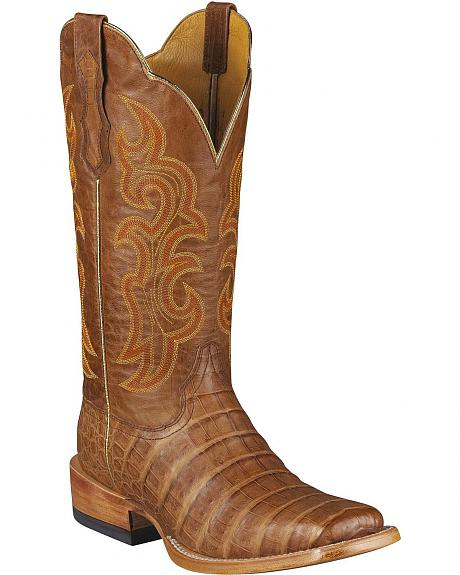 Ariat Brown Caiman Latigo Cowgirl Boot - Wide Sq Toe