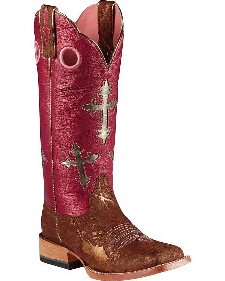 Ariat Cross Ranchero Cowboy Boots - Wide Square Toe