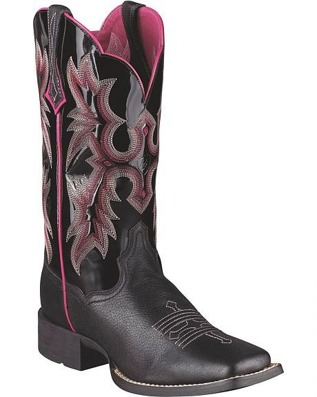 Ariat Black Tombstone Boot - Wide Square Toe