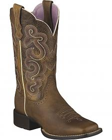 Ariat Quickdraw Badlands Boot - Wide Square Toe