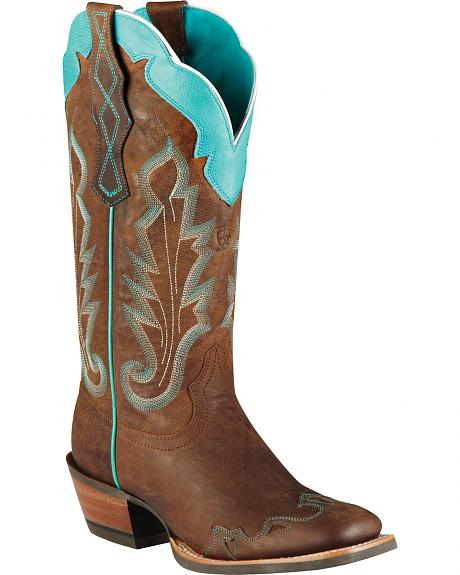 Ariat Caballera Cowgirl Boots - Wide Square Toe