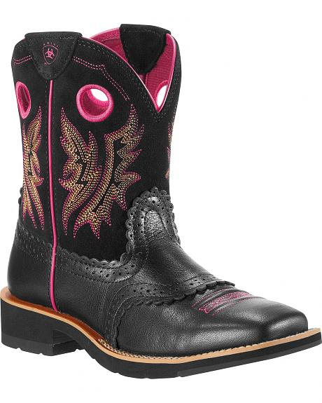 Ariat Fatbaby Mustang Cowgirl Boots - Square Toe