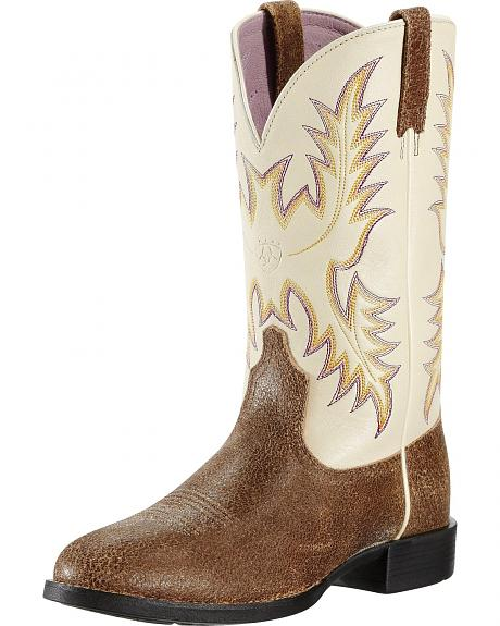 Ariat Heritage Stockman Cowgirl Boots - Round Toe
