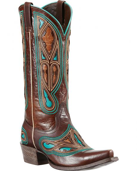 Ariat Leon Stain Glass Cowgirl Boots - Snip Toe