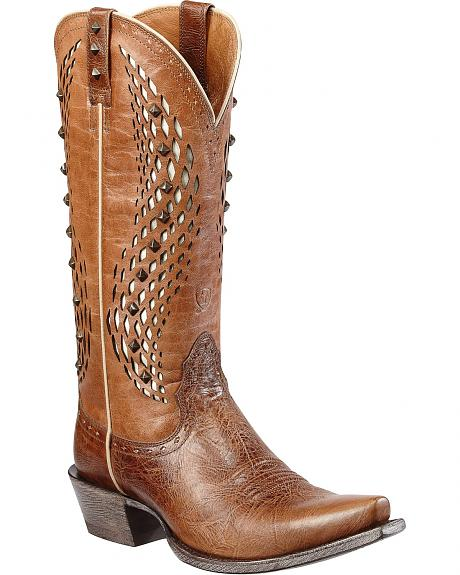 Ariat El Dorado Studded Inlay Cowgirl Boots - Snip Toe