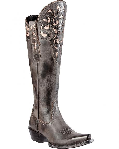 Ariat Hacienda Side Zip Riding Boots - Snip Toe
