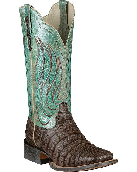 Ariat Nitro Caiman Belly Cowgirl Boots - Square Toe