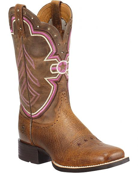Ariat Freedom Quickdraw Cowgirl Boots - Square Toe