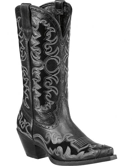 Ariat Sueded Inlay Dandy Cowgirl Boots - Snip Toe