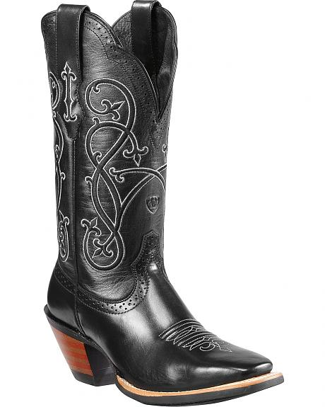 Ariat County Line Embroidered Cowgirl Boots - Square Toe