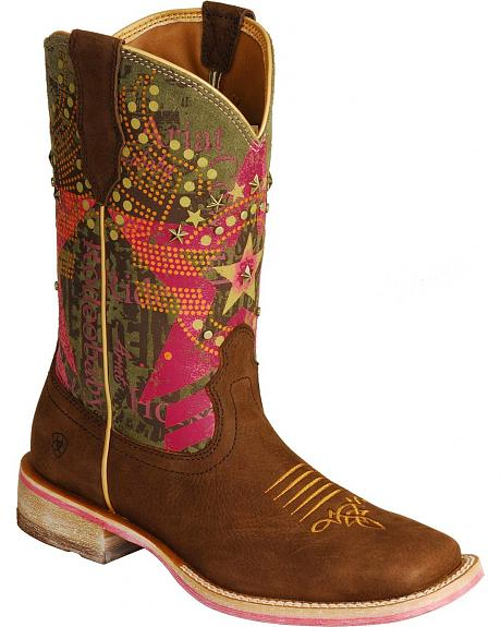 Ariat Rodeobaby Liberty Cowgirl Boots - Square Toe