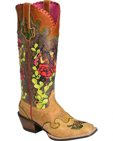 Ariat Quincy Senorita Sal Cowgirl Boots - Square Toe