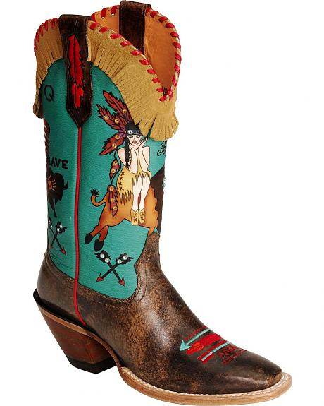 Ariat Quincy Buffalo Girl Cowgirl Boots - Square Toe