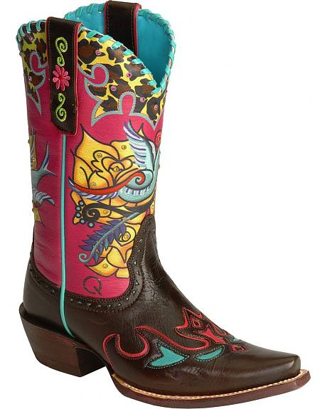 Ariat Quincy Wild Wilma Cowgirl Boots - Snip Toe