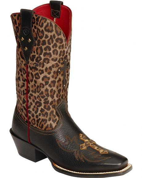 Ariat Legend Spirit Leopard Print Cowgirl Boots - Square Toe