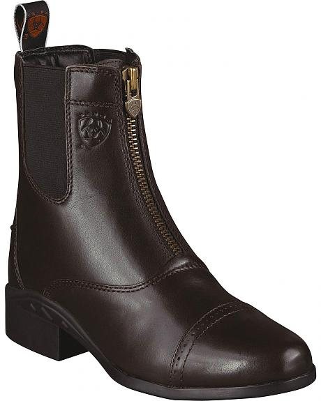 Ariat Heritage Zipper Paddock Riding Boots - Round Toe