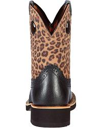 Ariat Fatbaby Deertan Leopard Print Cowgirl Boots - Round Toe at Sheplers