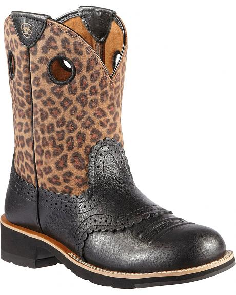 Ariat Fatbaby Leopard Boots - Boot Hto