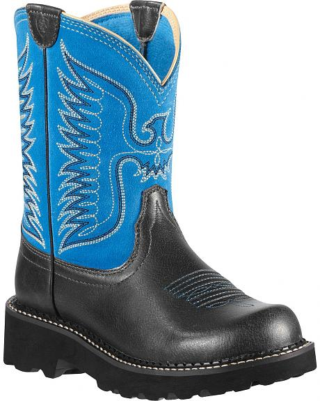 Ariat Fatbaby Blue Thunderbird Blue Cowgirl Boots - Round Toe