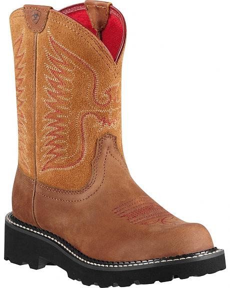 Ariat Fatbaby Tan Thunderbird Cowgirl Boots - Round Toe