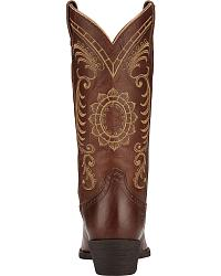 Ariat Magnolia Sunflower Stitch Cowgirl Boots at Sheplers