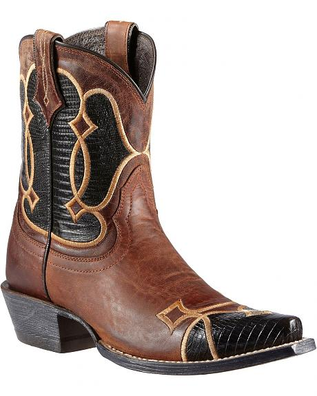 Ariat Nova Embroidered Wingtip Cowgirl Boots - Snip Toe