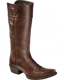 "Ariat Chandler 14"" Tall Leather Boots - Pointed Toe"