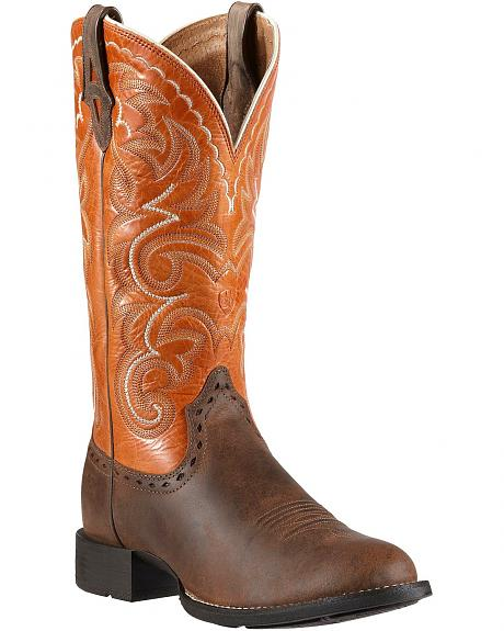 Ariat Heritage Horseman Cowgirl Boots - Round Toe