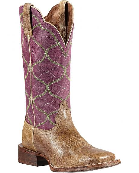 Ariat Big City Cowgirl Boots - Wide Square Toe