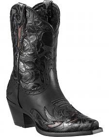 Ariat Dahlia Embossed Wingtip Cowgirl Boots - Snip Toe
