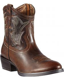 Ariat Billie Side Zipper Short Cowgirl Boots - Round Toe