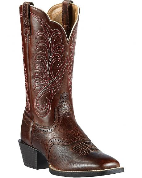 Ariat Mesquite Saddle Vamp Cowgirl Boots - Square Toe