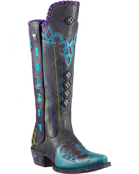 Ariat Follow No One Studded Cowgirl Boots - Snip Toe
