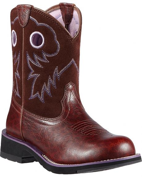 Ariat Fatbaby Sheila Subtle Leopard Print Cowgirl Boots - Round Toe