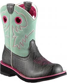 Ariat Fatbaby Sheila Elephant Print Cowgirl Boots - Round Toe