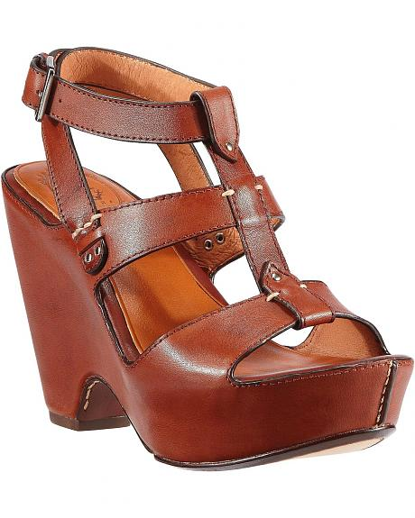 Ariat Cognac Leather Strap Sandals