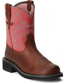 Ariat Pink Fatbaby Cowgirl Boots - Round Toe
