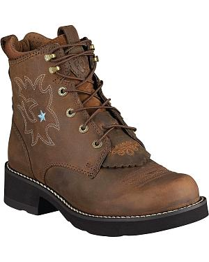 Ariat Probaby Lace-Up Boots - Round Toe