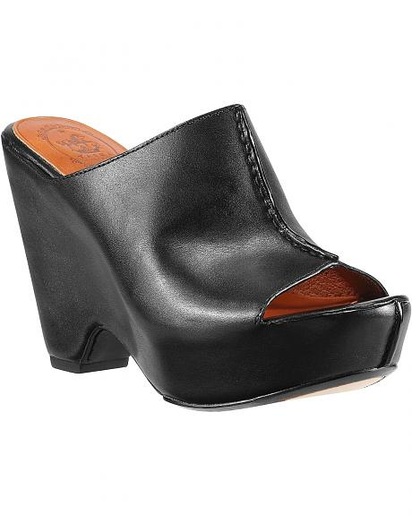 Ariat Summerside Black Leather Wedge Sandals