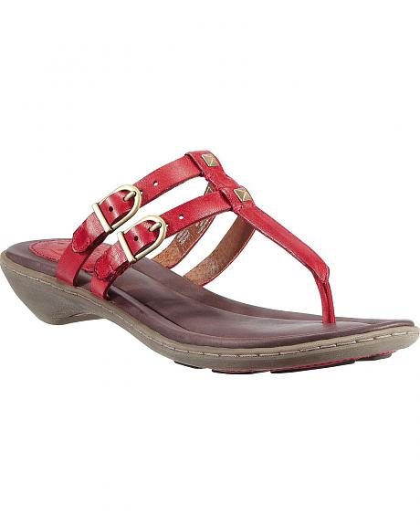 Ariat Red Weymouth Slide Sandals