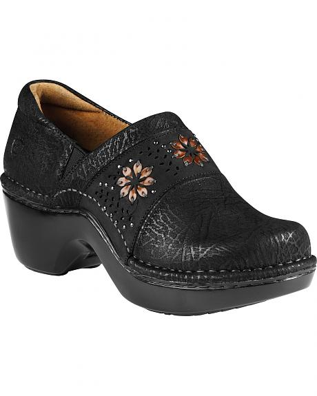 Ariat Bella Embroidered Flower Clogs