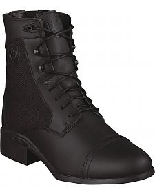 Ariat Heritage Sport Paddock Waterproof Lace-Up Riding Boots - Round Toe