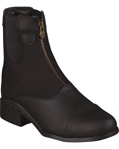 Ariat Heritage Sport Paddock Waterproof Zip-Up Riding Boots - Round Toe