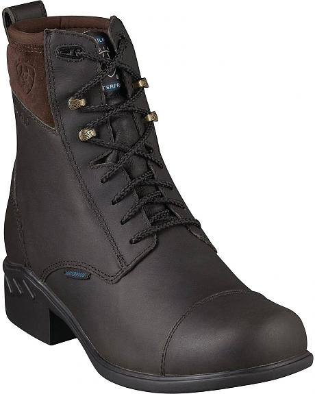 Ariat Brossard Waterproof & Insulated Lace-Up Riding Boots - Round Toe