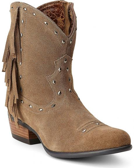 Ariat Sunset Studded Fringe Cowgirl Boots - Round Toe