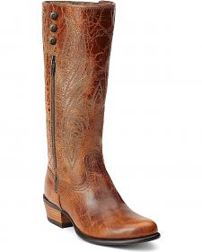 Ariat Uproar Crackle Side Zip Riding Boots - Round Toe