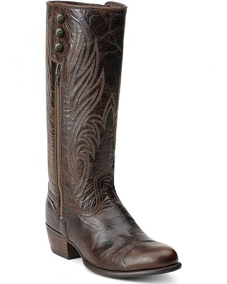 Ariat Uproar Chocolate Side Zip Boots - Round Toe